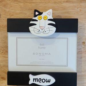 Kohl's Sonoma Novelty Cat Picture Frame 4x6 NIP
